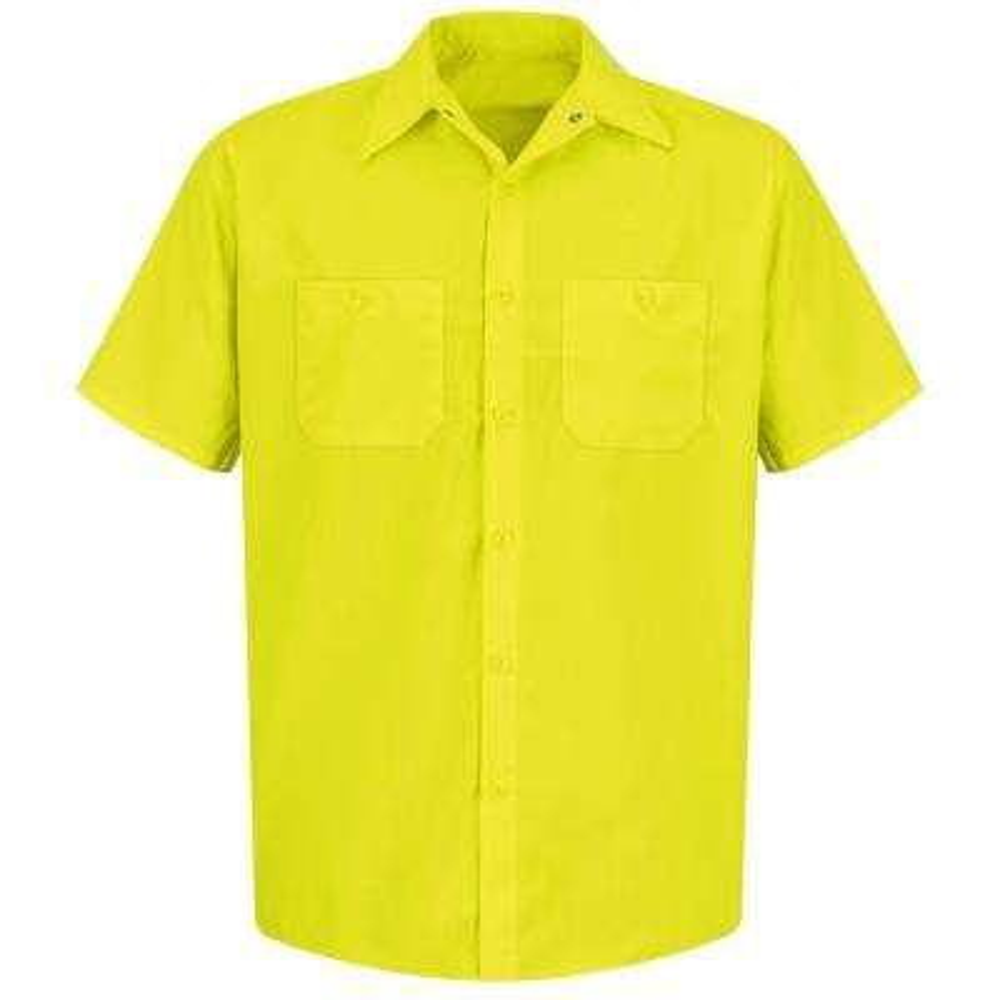 Men's Size XL Fluorescent YellowithGreen Enhanced Visibility Work Shirt