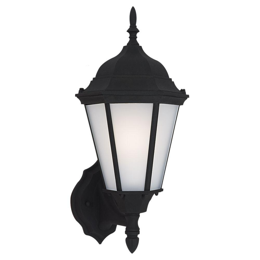Sea Gull Lighting Bakersville 1-Light Black Outdoor Wall Fixture