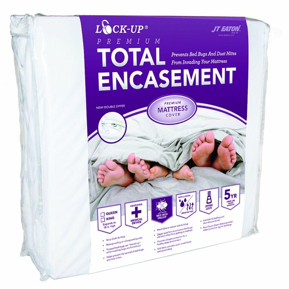 JT Eaton Lock-Up Total Encasement Bed Bug Protection for Queen Size Mattress (6-Pack)