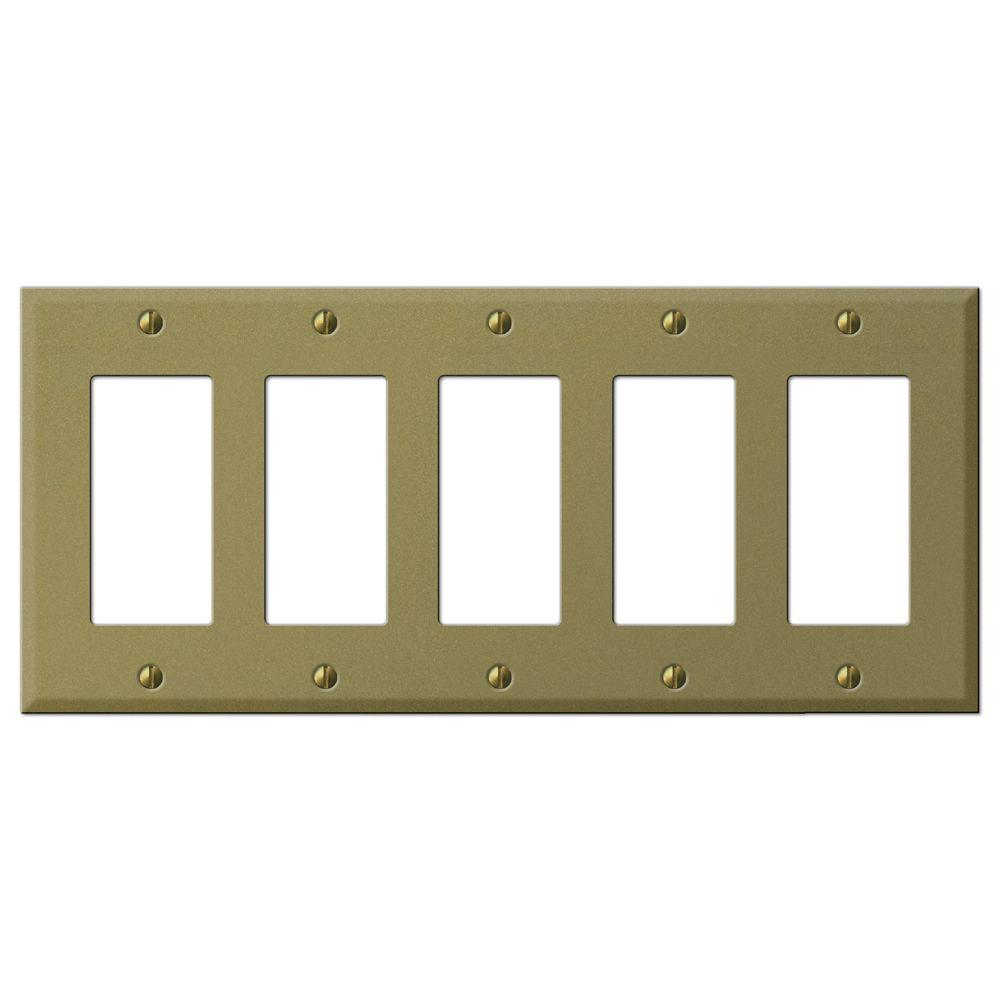 Creative Accents Steel 5 Decorator Wall Plate - Antique Brass-DISCONTINUED