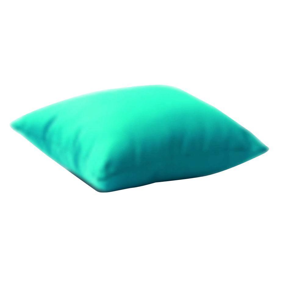 Zuo Laguna Sky Blue Square Outdoor Throw Pillow 701901 The Home Depot