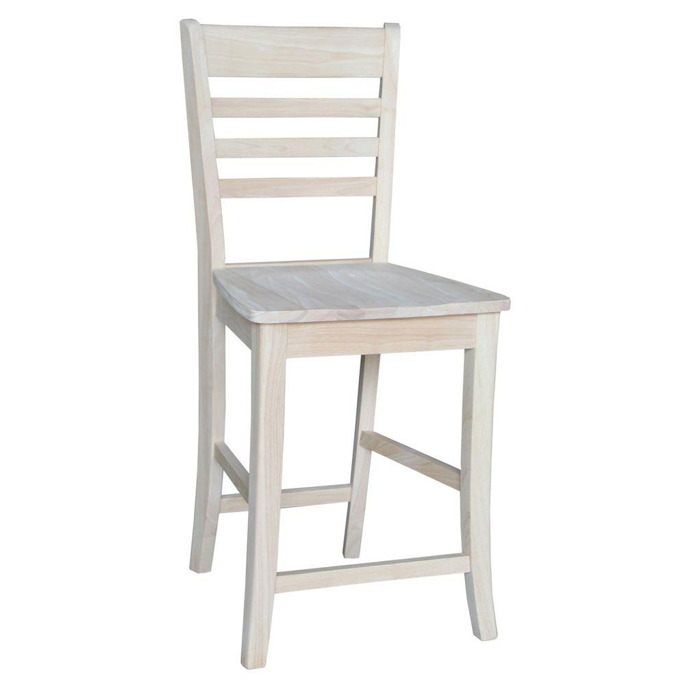 Roma 24 in. Unfinished Wood Bar Stool