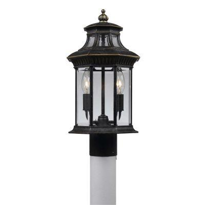 Hampton Bay Prestige Collection Imperial Bronze Finish 3 Light 9 in. Post Light-DISCONTINUED