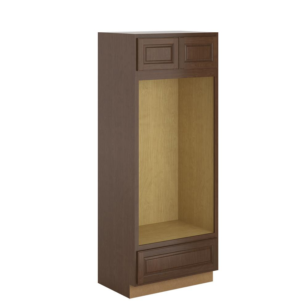 Madison Base Cabinets In Cognac: Hampton Bay Madison Assembled 33x84x24 In. Pantry/Utility