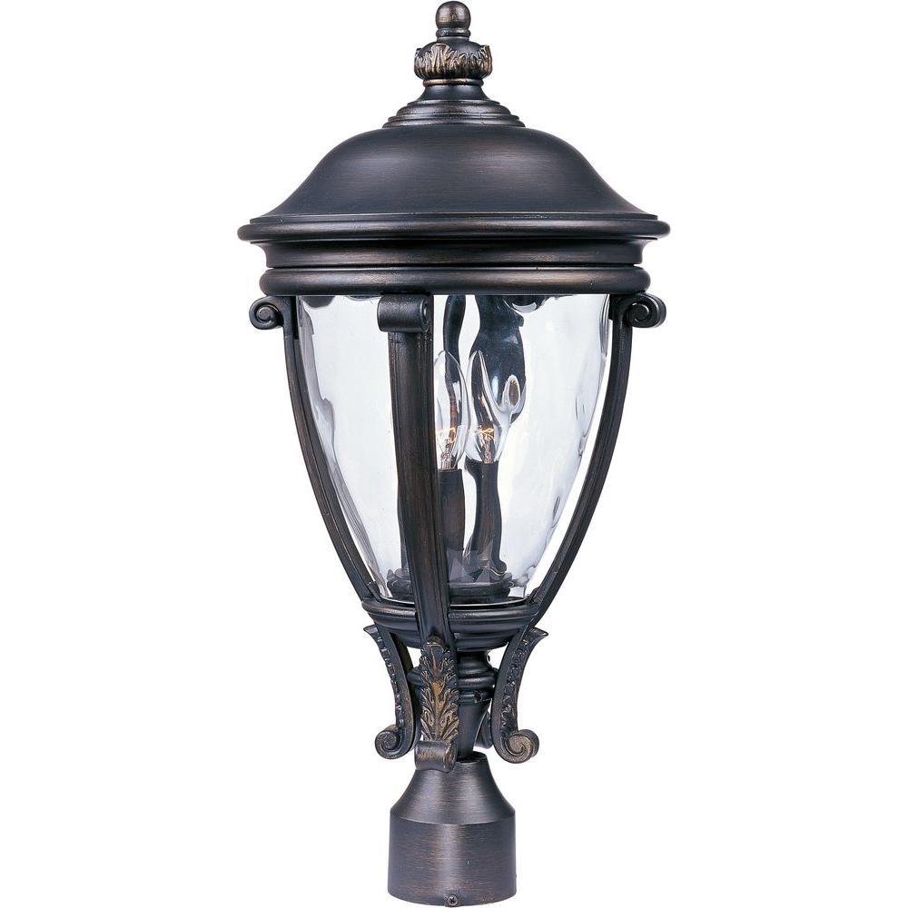 Camden Vivex 3-Light Golden Bronze Outdoor Pole/Post Mount