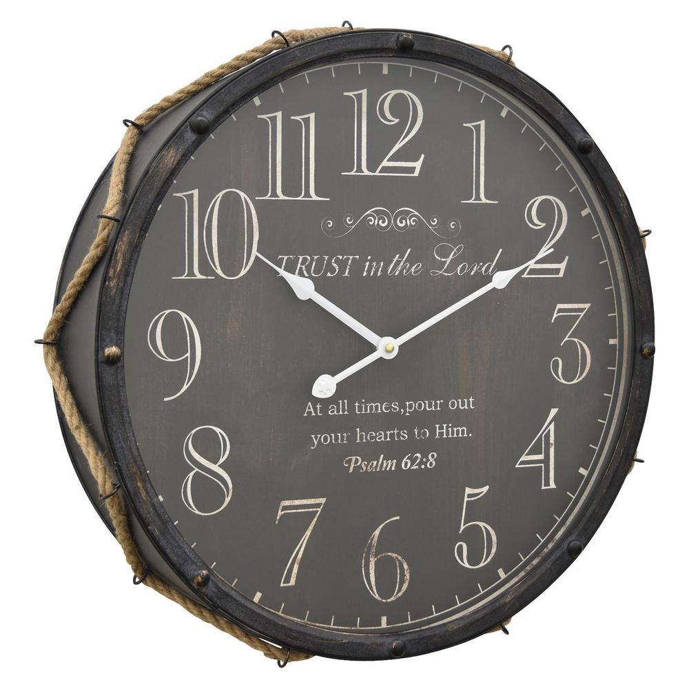 19.5 in. Metal Wall Clock