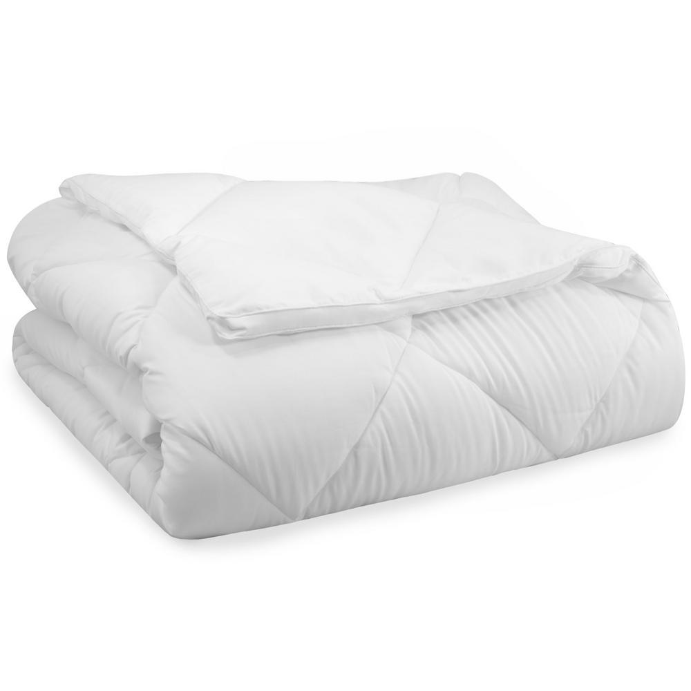 Year Round Down Alternative Cotton Twin Comforter in White