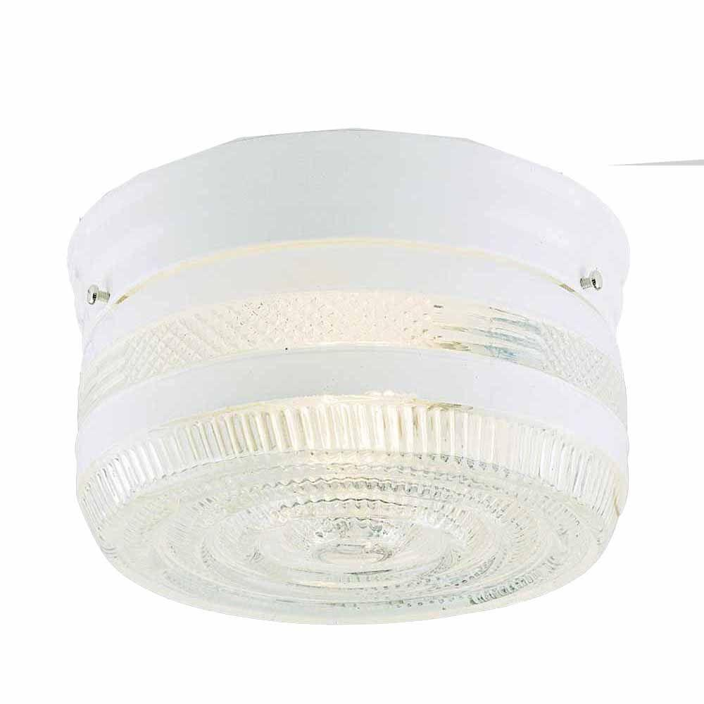 Filament Design Lenor 1-Light White Incandescent Ceiling Flush Mount