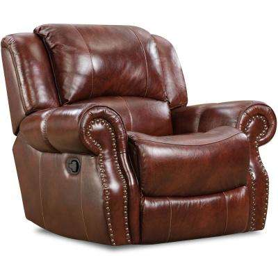 Oxblood Telluride Leather Rocker Recliner