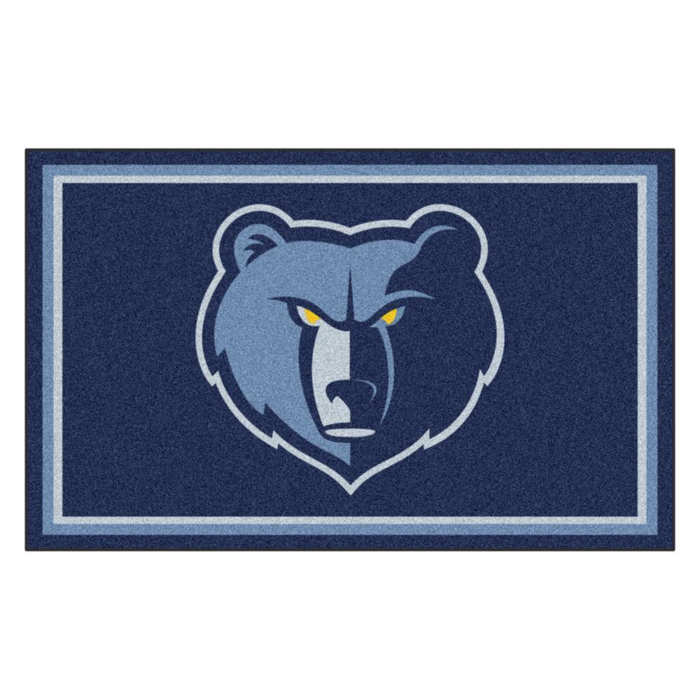 NBA - Memphis Grizzlies Navy Blue 4 ft. x 6 ft. Area Rug