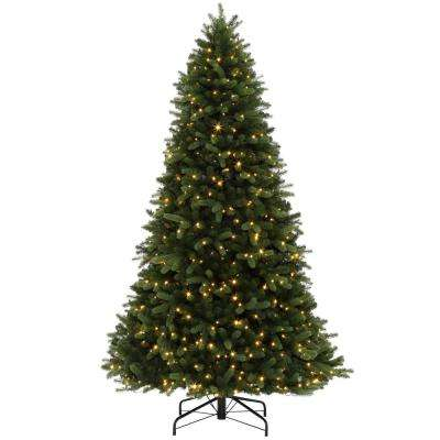 9 ft. Pre-Lit LED Northern Gale Spruce Artificial Christmas Tree with 1300 SureBright Color-Changing Lights