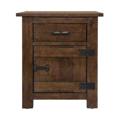 Hudson Dark Antique Bronze Side Table