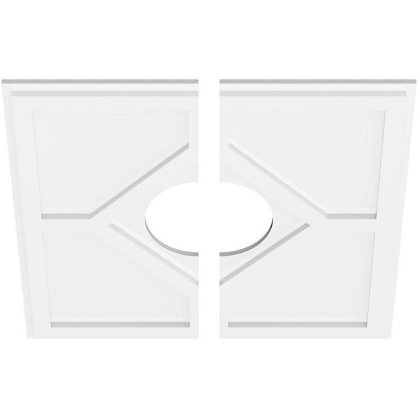 Ekena Millwork 1 In P X 8 1 4 In C X 24 In Od X 7 In Id Embry Architectural Grade Pvc Contemporary Ceiling Medallion Two Piece Cmp24ey2 07000 The Home Depot