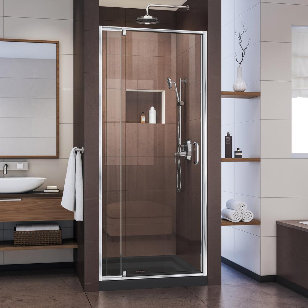 DreamLine Flex 28 in. to 32 in. x 72 in. Framed Pivot Shower Door in ...