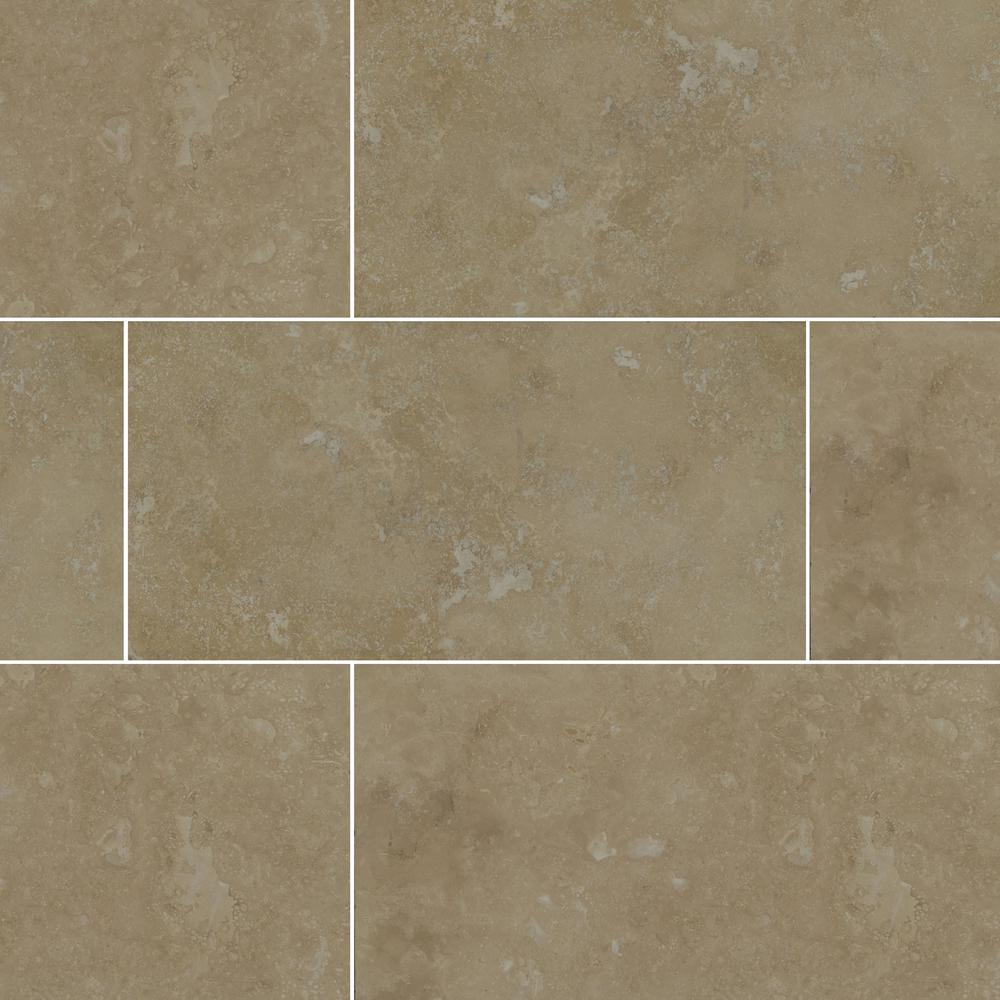 Msi Beige 12 In X 24 In Honed Travertine Floor And Wall Tile 8 Sq Ft Case Thdbeig1224hf The Home Depot