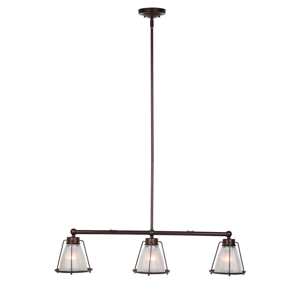 Design House Essex 3-Light Textured Coffee Bronze Indoor Pendant
