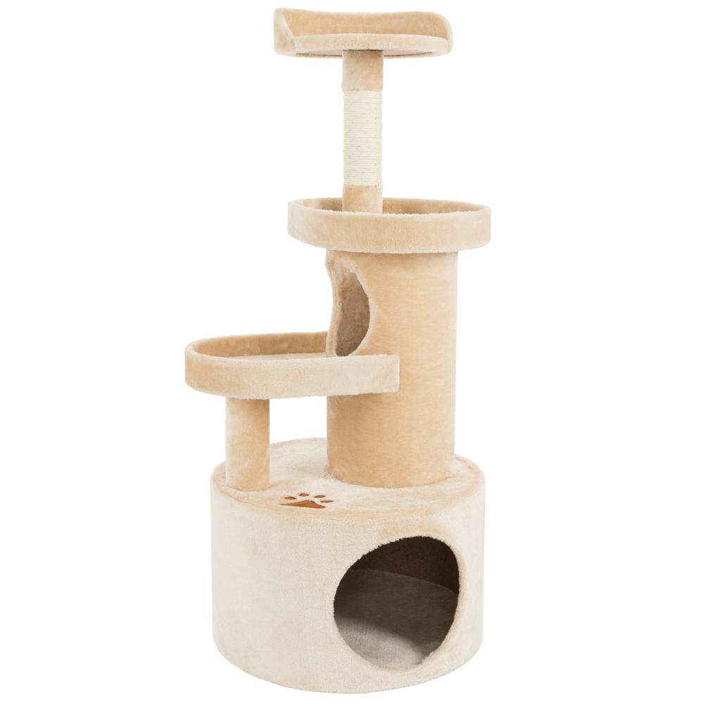 Petmaker Tan 4 Tier Cat Tree Condo with Scratching Post Post-M320131