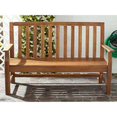 Exceptional Indaka Natural Acacia Patio Bench