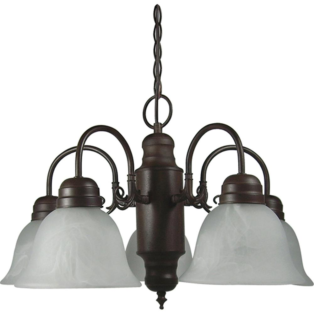 Y decor mike 5 light dark brown chandelier with glass shade l1435 y decor mike 5 light dark brown chandelier with glass shade aloadofball Gallery