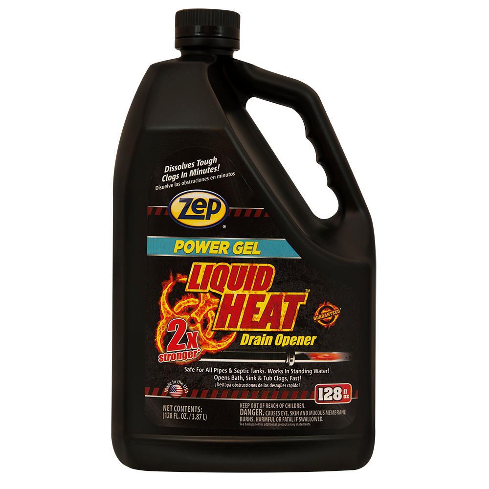 Zep 128 Oz Liquid Heat Gel Drain Opener Zulhg128 The