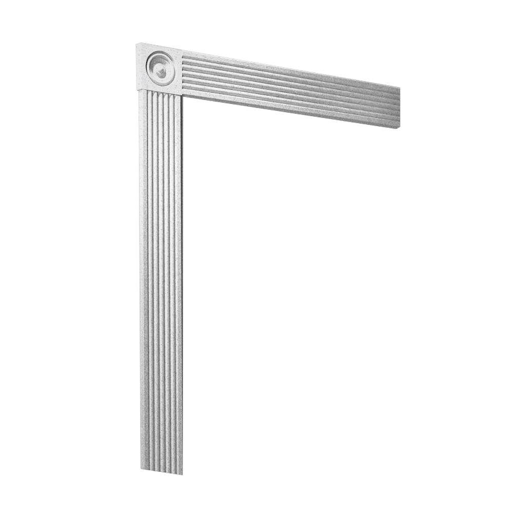 Swanstone Easy Up Adhesive Solid-Surface Decorative Shower Wall Trim Kit in Arctic Granite-DISCONTINUED