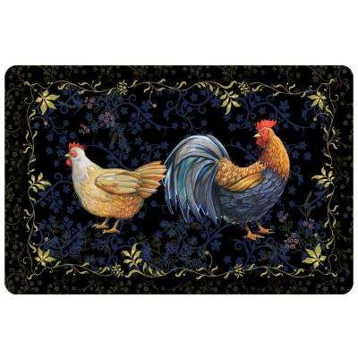 New Wave Rooster Black 23 in. x 36 in. Neoprene Mat