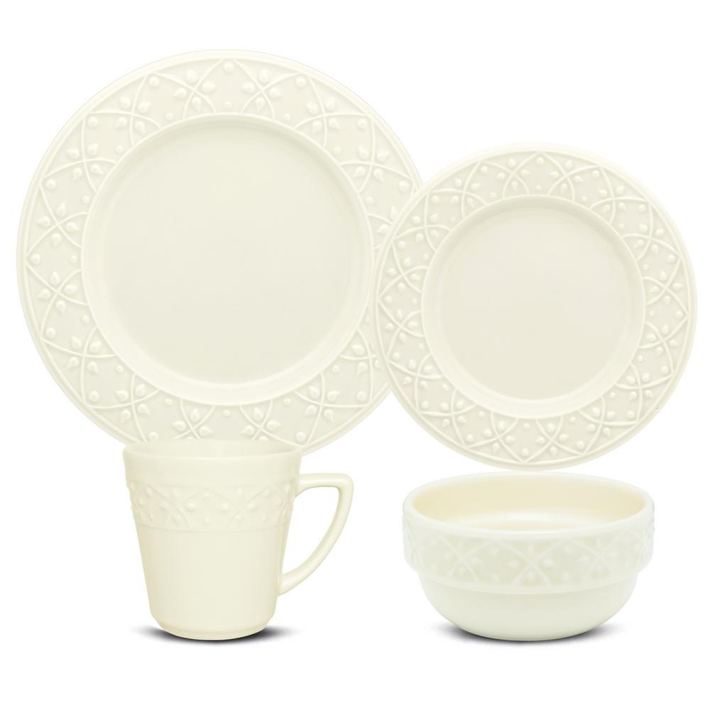 Manhattan Comfort Mendi Ivory 32-Piece Casual Ivory Earthenware Dinnerware Set (Service for 8) was $329.99 now $209.03 (37.0% off)