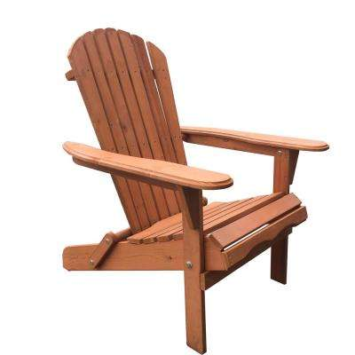 Villaret Walnut Folding Wood Adirondack Chair