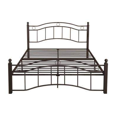 Bouvardia Contemporary Modern Queen-Size Hammered Copper Iron Bed Frame