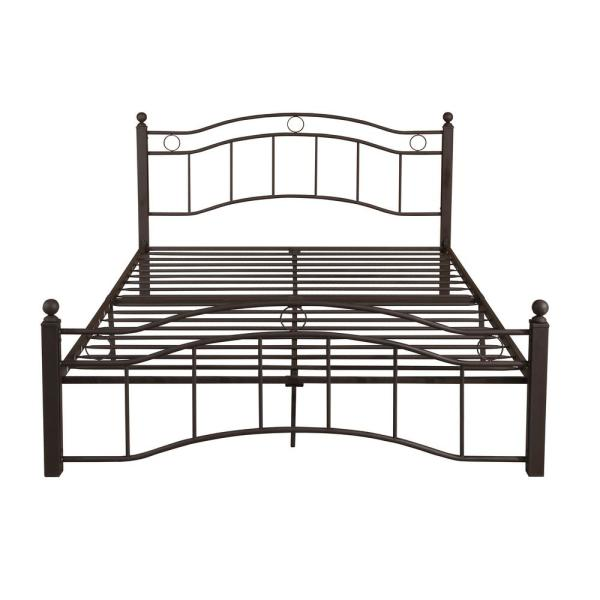 Noble House Bouvardia Contemporary Modern Queen-Size Hammered Copper Iron Bed