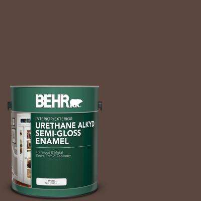 1 gal. #AE-18 Nomad Brown Urethane Alkyd Semi-Gloss Enamel Interior/Exterior Paint
