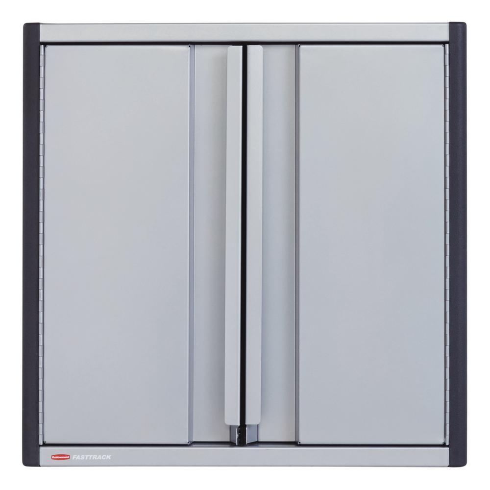 Rubbermaid FastTrack Garage 24 in. H x 24 in. W x 10-1/2 in. D Tool Cabinet Kit Rail Storage System (5-Piece)