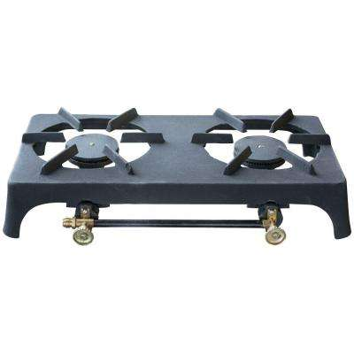 Double Burner Cast Iron Stove
