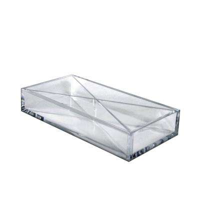 Clear Desktop Collection Large Tray 4-Compartment Desk Organizer (2-Pack)