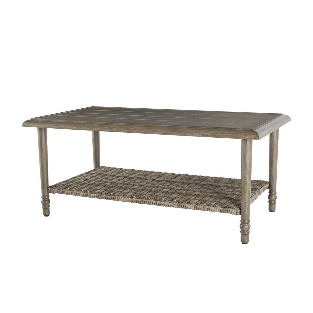 Windsor Brown Metal Outdoor Patio Coffee Table