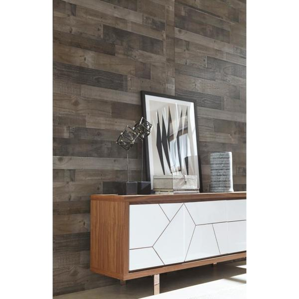 Weathered Grey Plank 32 Sq Ft Mdf Paneling 169779 The Home Depot