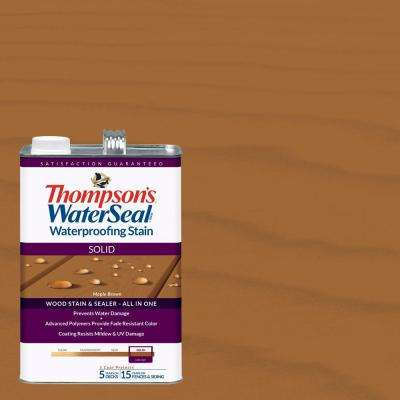 1 gal. Solid Maple Brown Waterproofing Stain Exterior Wood (4-Pack)