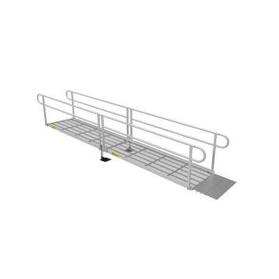 PATHWAY 3G 16 ft. Wheelchair Ramp Kit with Expanded Metal Surface and Two-line Handrails