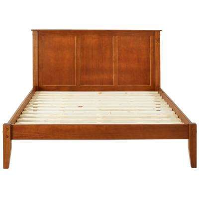 Shaker Style Cherry Queen Size Panel Headboard and Platform Bed