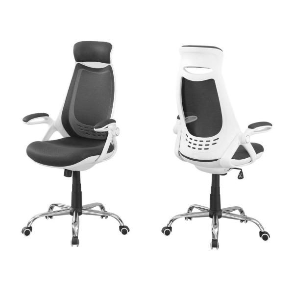 Jasmine 1-Piece White and Grey Office Chair