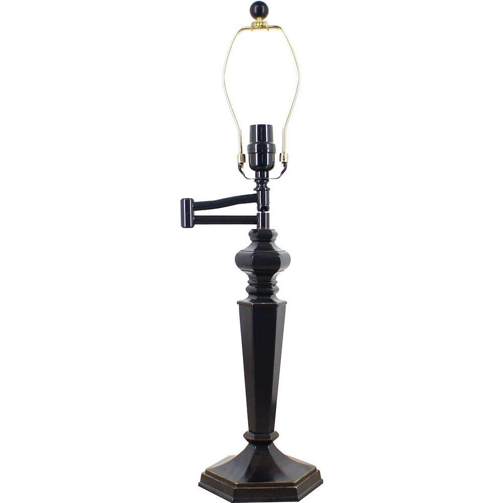Hampton bay mix match 255 in bronze swing arm table lamp 15778 hampton bay mix match 255 in bronze swing arm table lamp geotapseo Choice Image