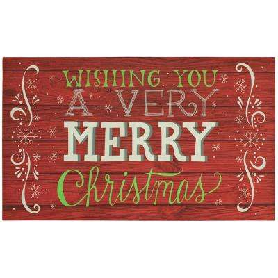 Christmas Cabin 18 in. x 30 in. Elegant Entry Door Mat