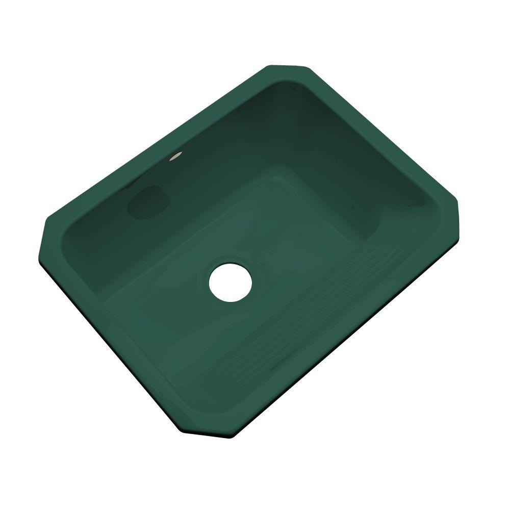 Thermocast Kensington Undermount Acrylic 25 in. Single Bowl Utility Sink in Rain Forest