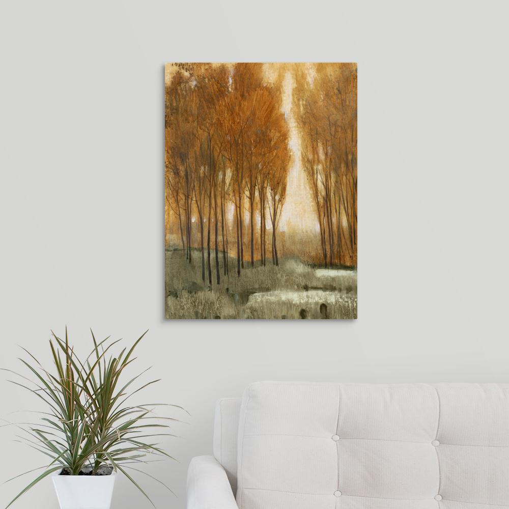 Golden forest ii by tim otoole canvas wall art