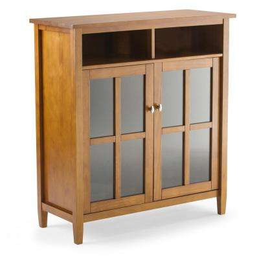 Warm Shaker Honey Brown Medium Storage Media Cabinet