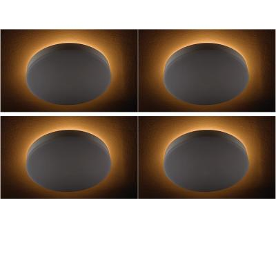 16 in. Color Changing Selectable LED Flush Mount Ceiling Light with Night Light Feature 1400 Lumens Dimmable (4-Pack)