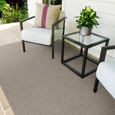 Jaca Platinum 10 ft. x 14 ft. Geometric Indoor/Outdoor Area Rug