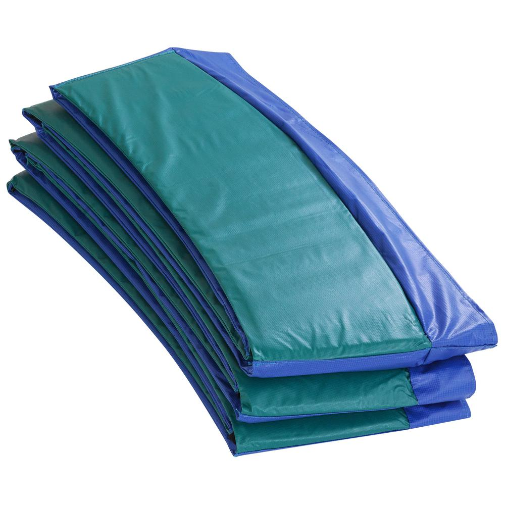 Blue/Green Super Trampoline Safety Pad Spring Cover Fits for 14 ft.