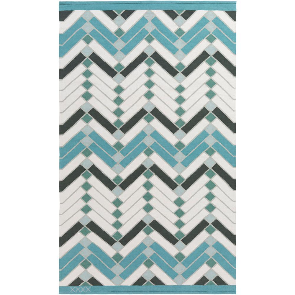 Labin Aqua 4 ft. x 6 ft. Indoor Area Rug