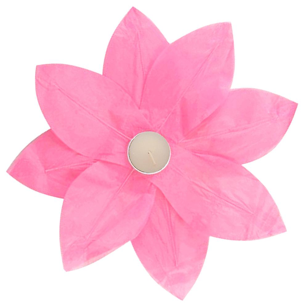 Fuchsia Floating Lotus Lanterns (6-Count)